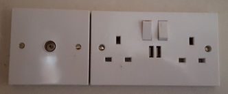 Electrical Socket with integrated USB charging ports