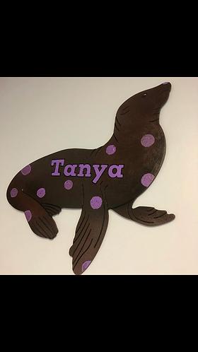 Sea Lion Name Cut-Out