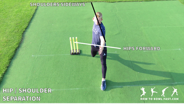 Fast bowling how to bowl fast hip shoulder separation good cricket fast bowling technique