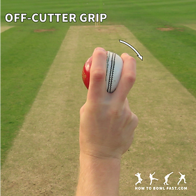 how to grip the cricket ball to bowl an off cutter slower delivery