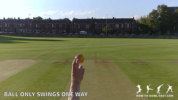 Fast bowling swing bowling in-swing out-swing with good cricket fast bowling technique