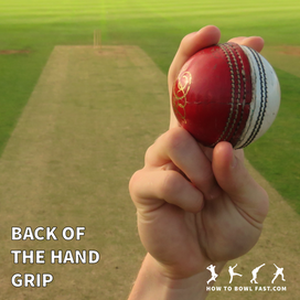 how to grip the cricket ball to bowl a back of the hand slower delivery