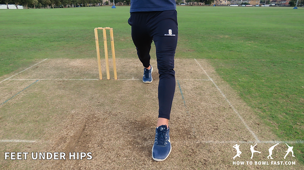 Cricket fast bowler how to bowl fast braced front leg aligned good cricket fast bowling technique