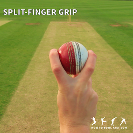 how to grip the cricket ball to bowl a split finger slower delivery