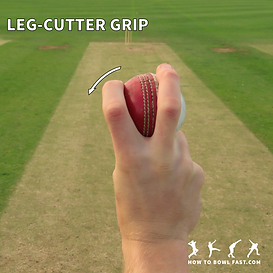 how to grip the cricket ball to bowl a leg cutter slower delivery