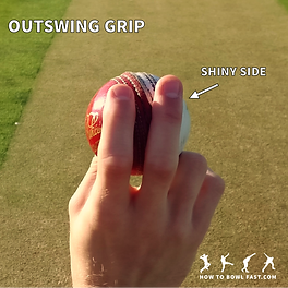 how to grip the cricket ball to bowl out swing