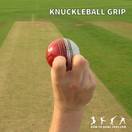 how to grip the cricket ball to bowl a knuckleball slower delivery in cricket