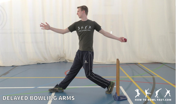 Fast bowling how to bowl fast delaying both arms good cricket fast bowling technique