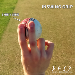 how to grip the cricket ball to bowl in swing