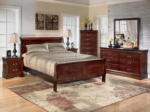 Louis Philippe Queen 6 Piece Bedroom Set