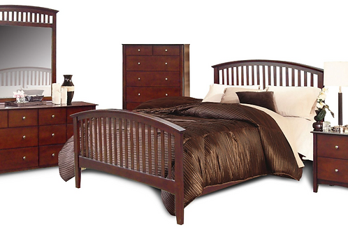 Merlot Queen 6 Piece Bedroom Set