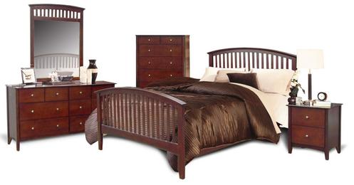 Merlot Queen 6 Piece Bedroom Set