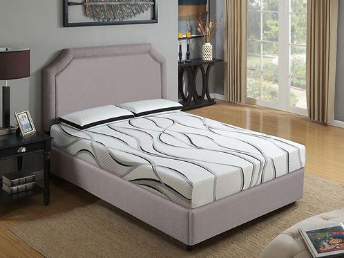 "Queen Emerald Twilight II 8"" Gel Memory Foam"