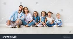 stock-photo-happy-large-family-mother-fa
