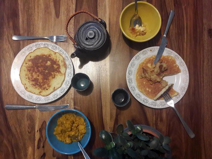 Recette : Pancakes à la banane,                               sans gluten et sans produits laitiers