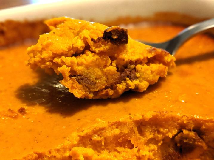 Clafoutis potimarron chocolat
