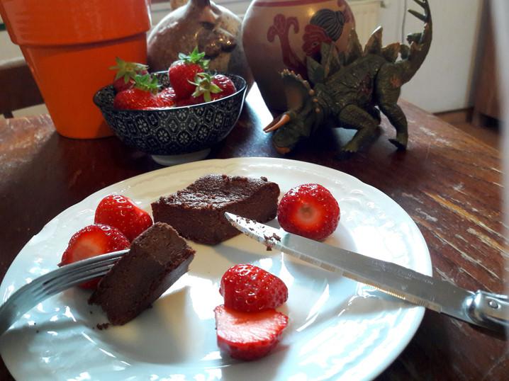 Brownie fondant chocolat / coco, recette sans gluten ni produits laitiers