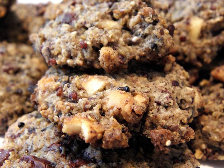 Cookies quinoa choco-noisettes, recette sans gluten sans produits laitiers