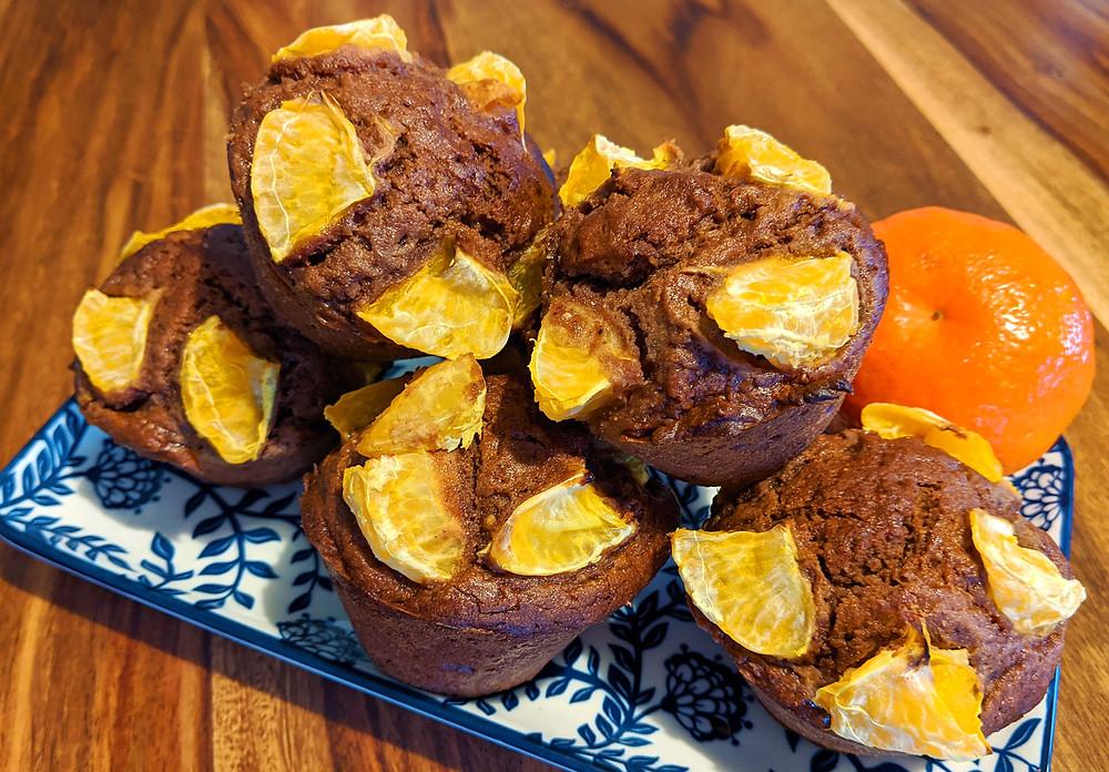 Muffins châtaigne cacao clémentine Recette sans gluten sans produits laitiers
