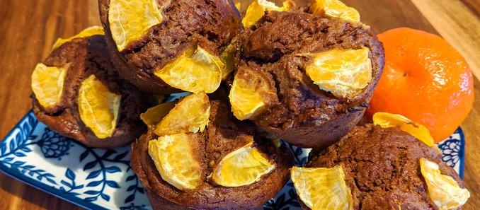 Muffins châtaigne cacao clémentine - Recette sans gluten, sans produits laitiers