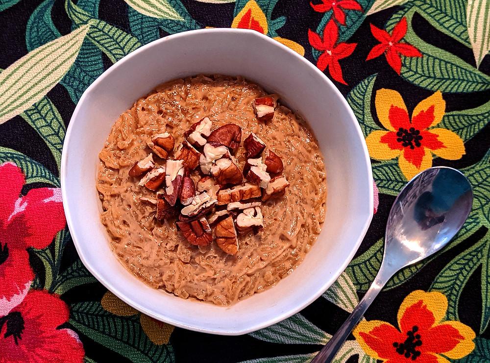 riz au lait coco vanille IG bas low Fodmap