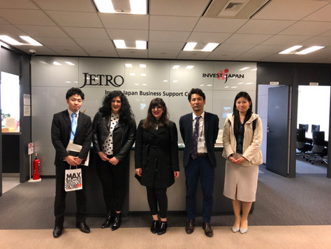 Meeting JETRO members during our visit to Japan on April 2019