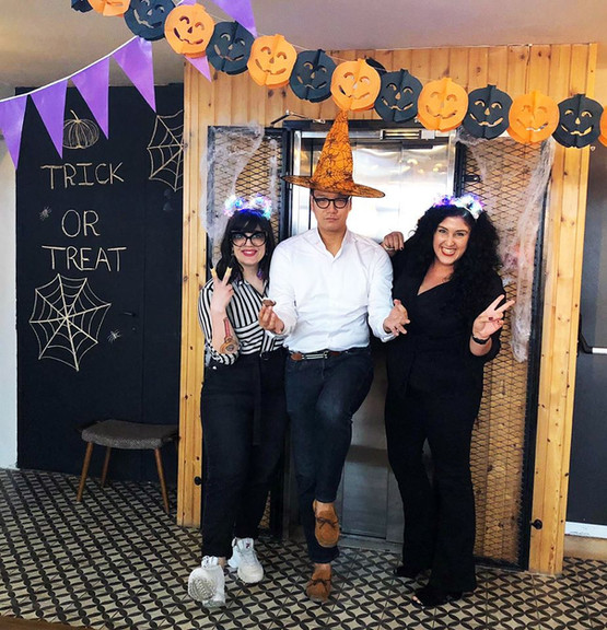 With Hide (Samurai fund Partner) - celebrating Halloween in the office!