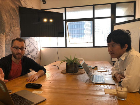 Our Portfolio compnay Dogiz during a pitch meeting  with Colopl Next