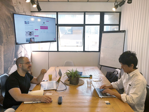 Idan from Scaleabout (our Portfolio company), during a recent pitch meeting