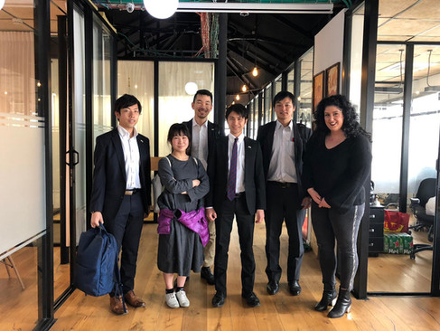 With visitors from Tsukoba City in our coworking space, CityHub
