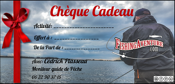 Chèque Cadeau Pêche Noël Fishing Aventur