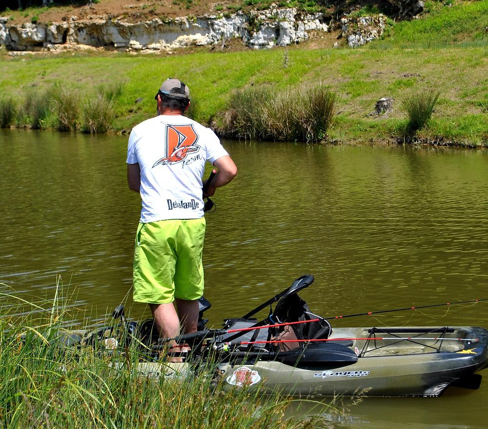 Pêche en Kayak Debout