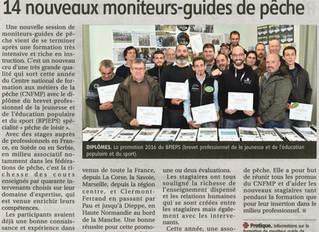 14 nouveaux moniteurs-guides de pêche, diplômés au centre de formation des métiers de la pêche d&#39