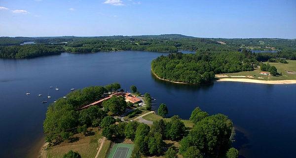 lac de barrage Saint Pardoux en Haute-Vienne