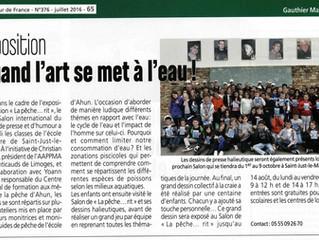Article paru dans le magazine le Pêcheur de France de Juillet