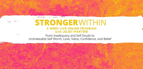 STRONGER WITHIN - 6 WEEK ONLINE PROGRAM