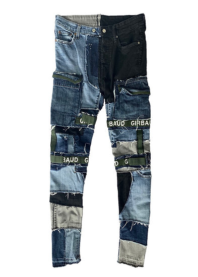 Multicolored Girbaud Patchwork Shuttle Denim