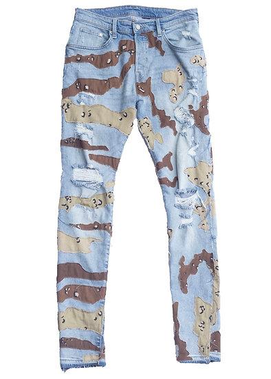 3D Desert Camo Denim Jeans