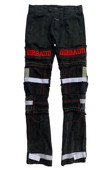 Girbaud Embroidered Shuttle Patchwork Denim