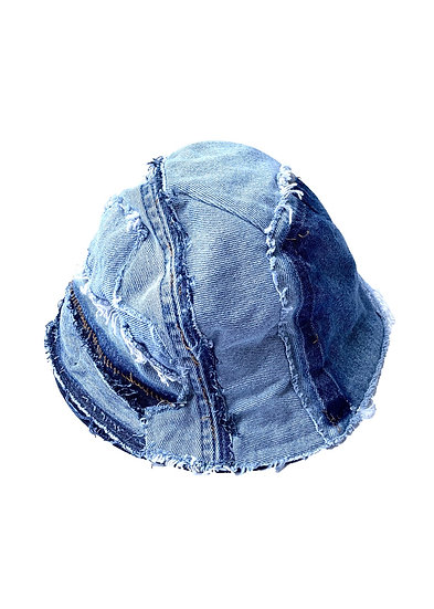 Lightwash Patchwork Denim Bucket