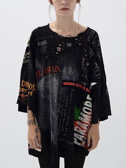 Being Alive Is Expensive Patchwork Tee