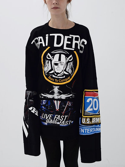 Raiders Patchwork Tee