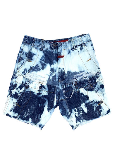 Bleached Pocket Panel Girbaud Shorts