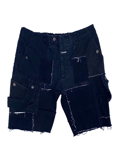 Black Patchwork Girbaud Shorts