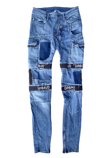 Lightwash Girbaud Patchwork Shuttle Denim