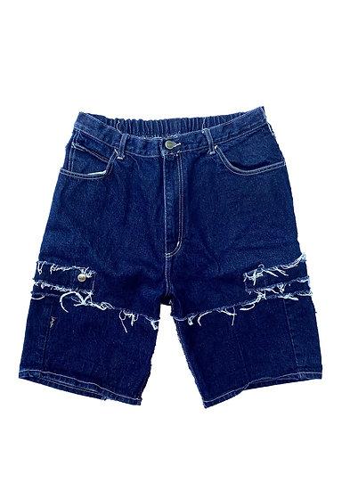 Sean John Patchwork Denim Shorts