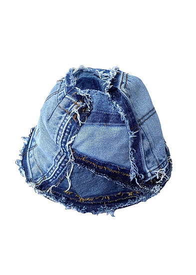 Denim Pocket Patchwork Bucket