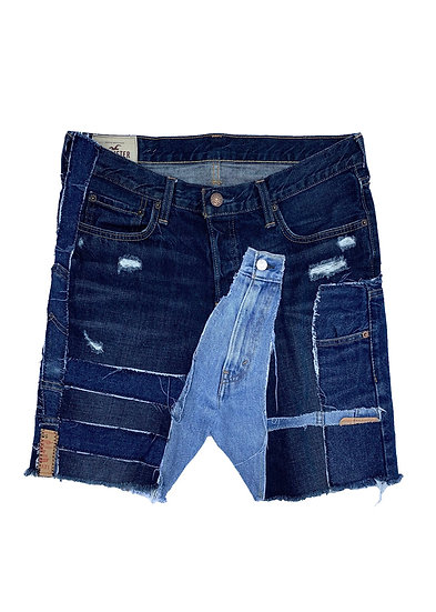 Hollister Patchwork Denim Shorts