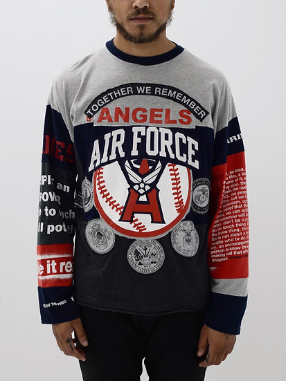 Angels Air Force Patchwork Tee