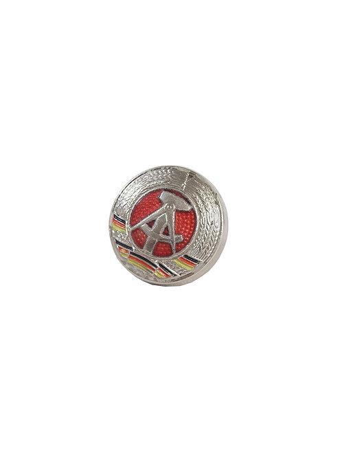 東ドイツ軍 円形章 ピンバッジ シルバー